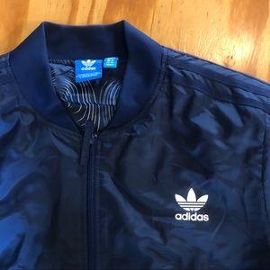 adidas Jackets & Coats - Adidas navy bomber jacket